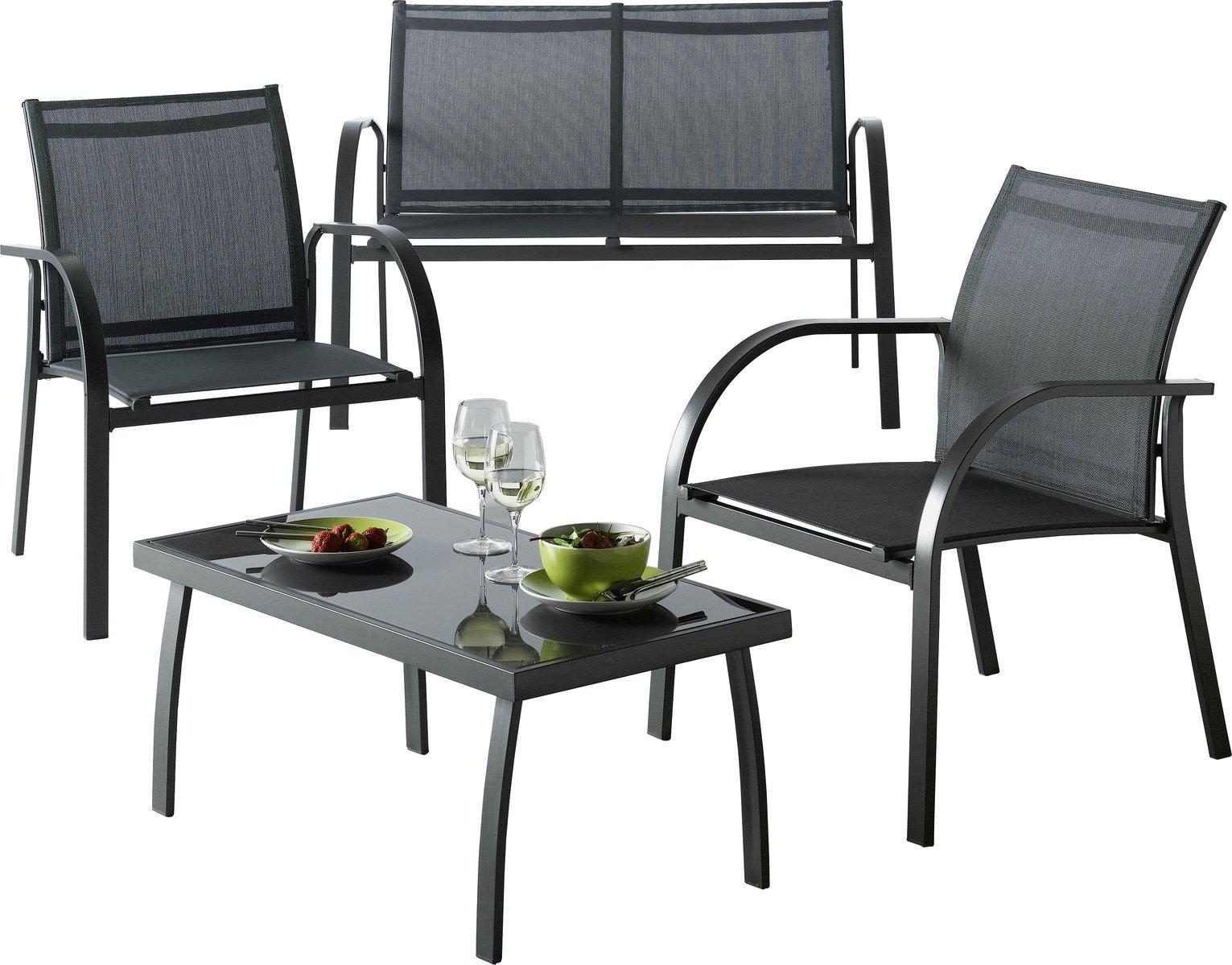 Argos Home - Milan - 4 Seater Metal Sofa Set