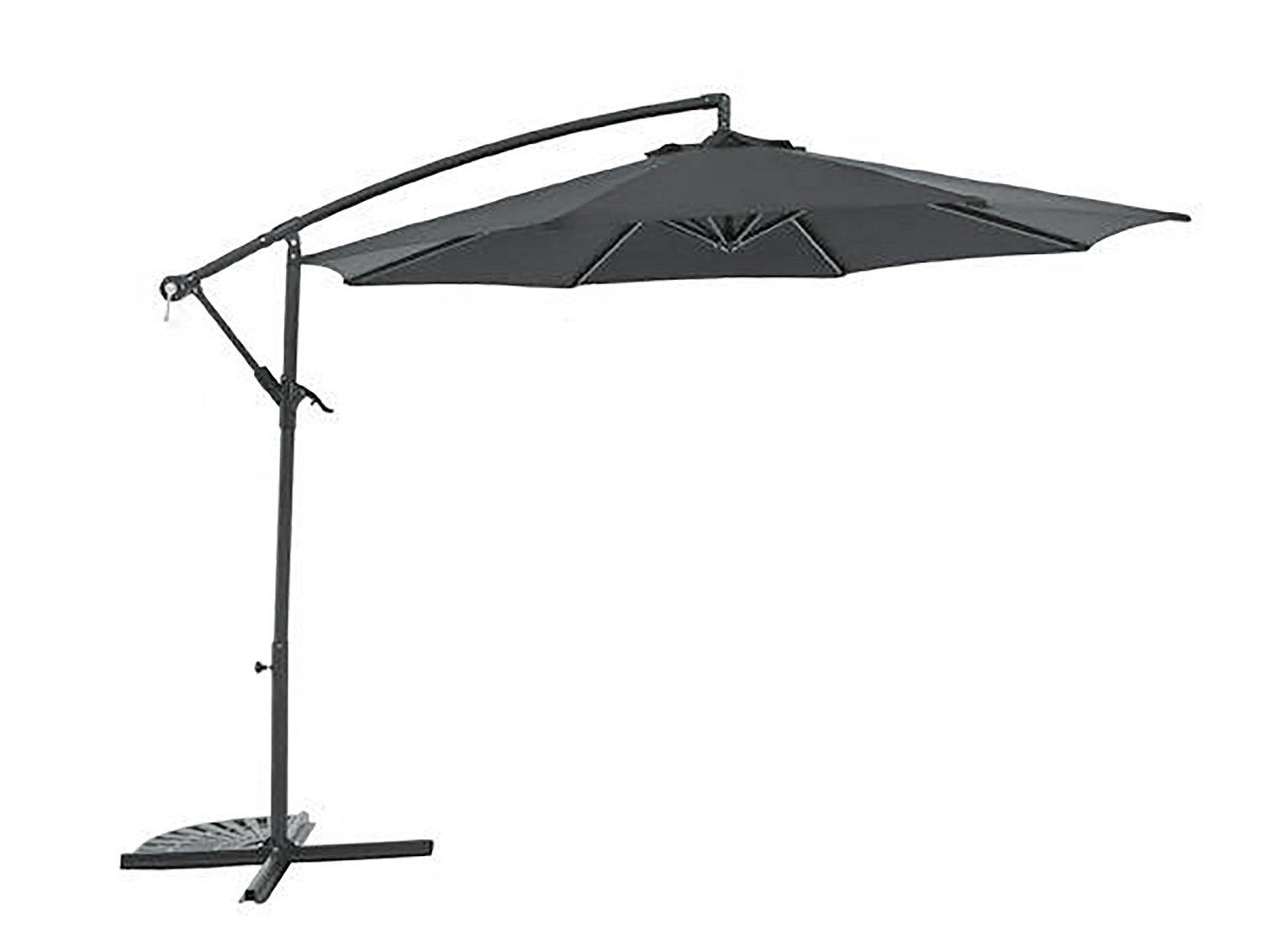 Argos Home 2.5m Overhanging Garden Parasol - Black