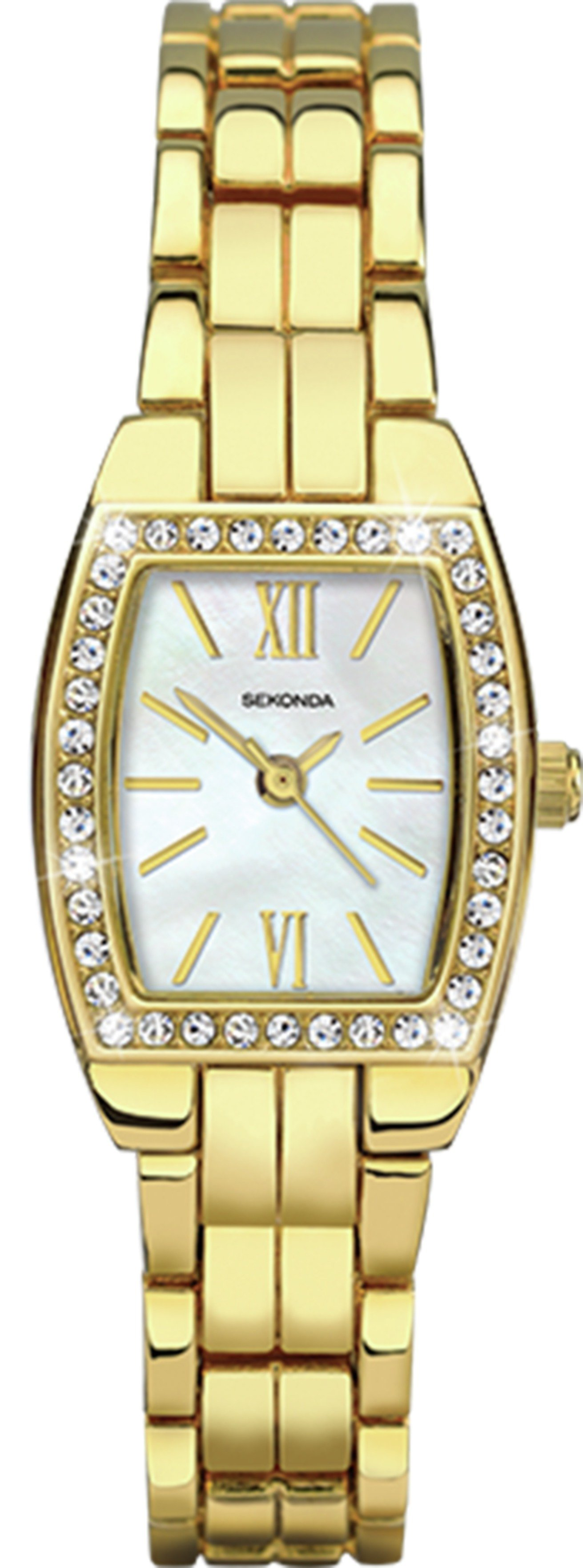 Sekonda - Ladies Stone Set Case and Bracelet - Watch