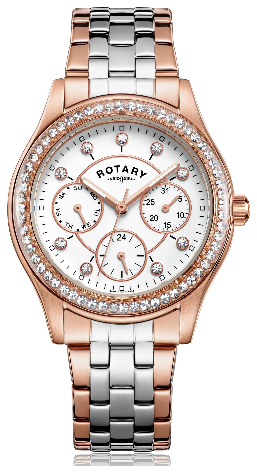 Rotary - Ladies Rose Two Tone Multi Dial - Watch