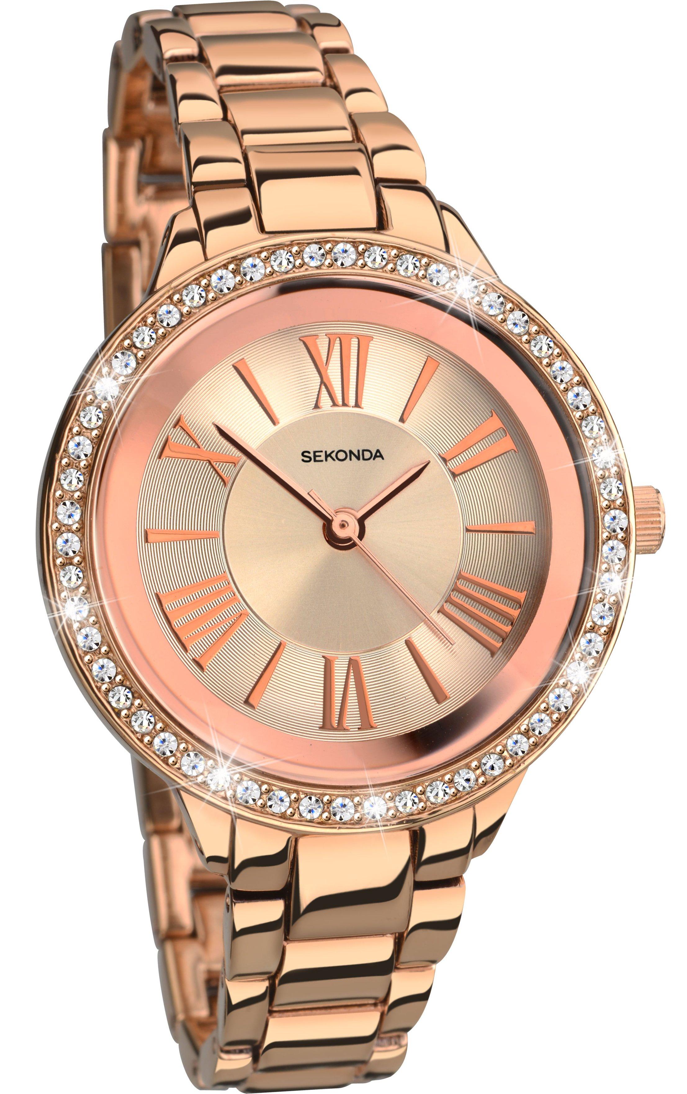 Sekonda Editions Ladies' Rose Gold Colour Bracelet Watch