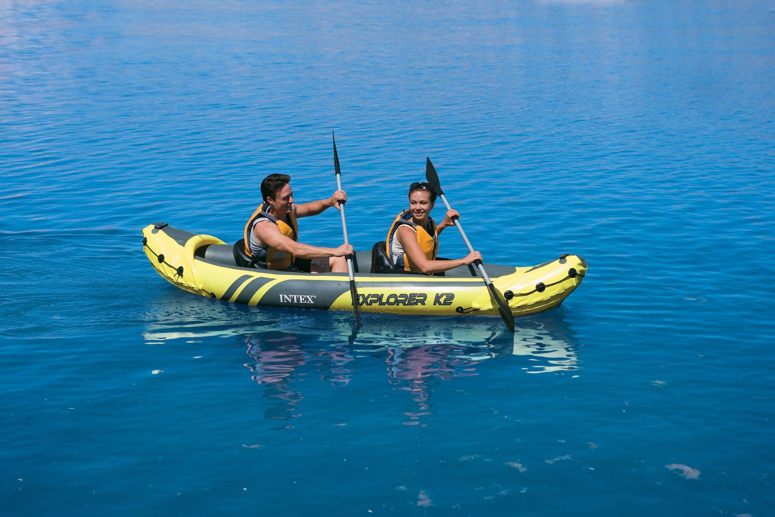 Intex Explorer K2 Kayak - Yellow and Black