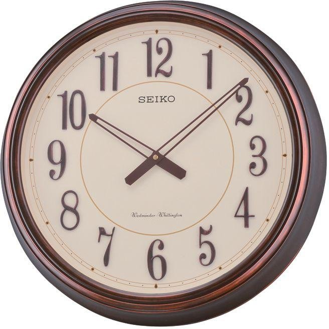 Seiko 6 Part Moving Melody Wall Clock With Led Lights
