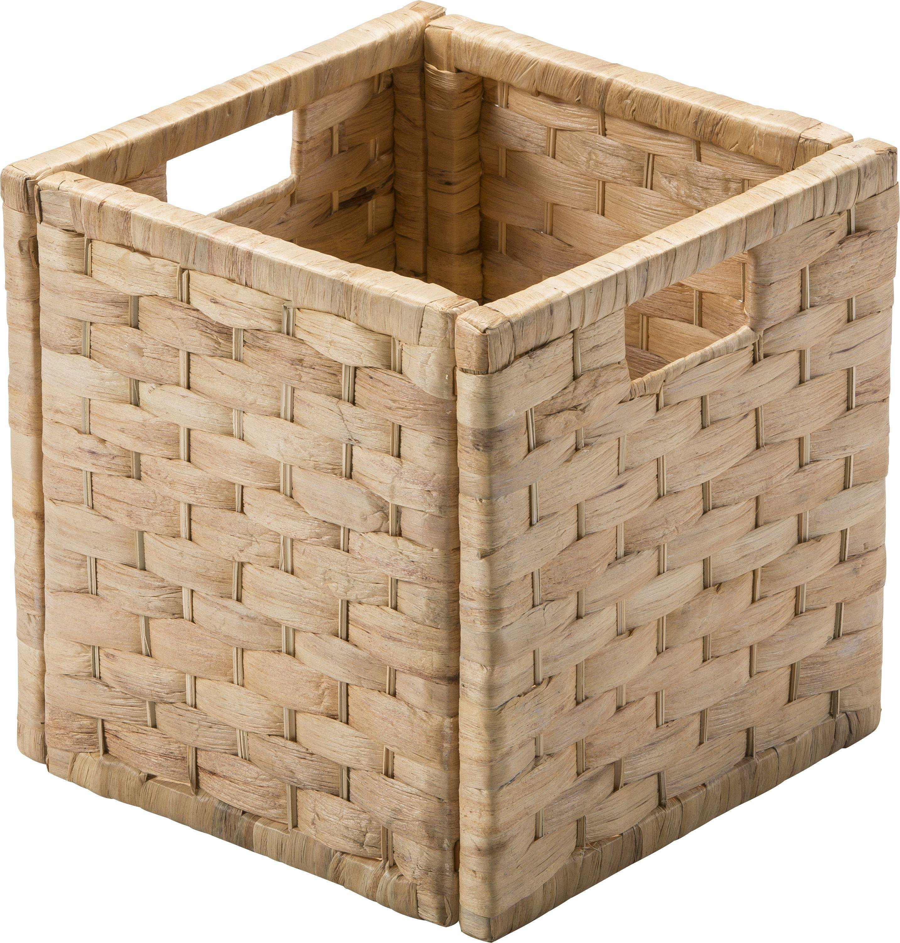 Argos Home Water Hyacinth Cubed Storage Basket - Small Weave