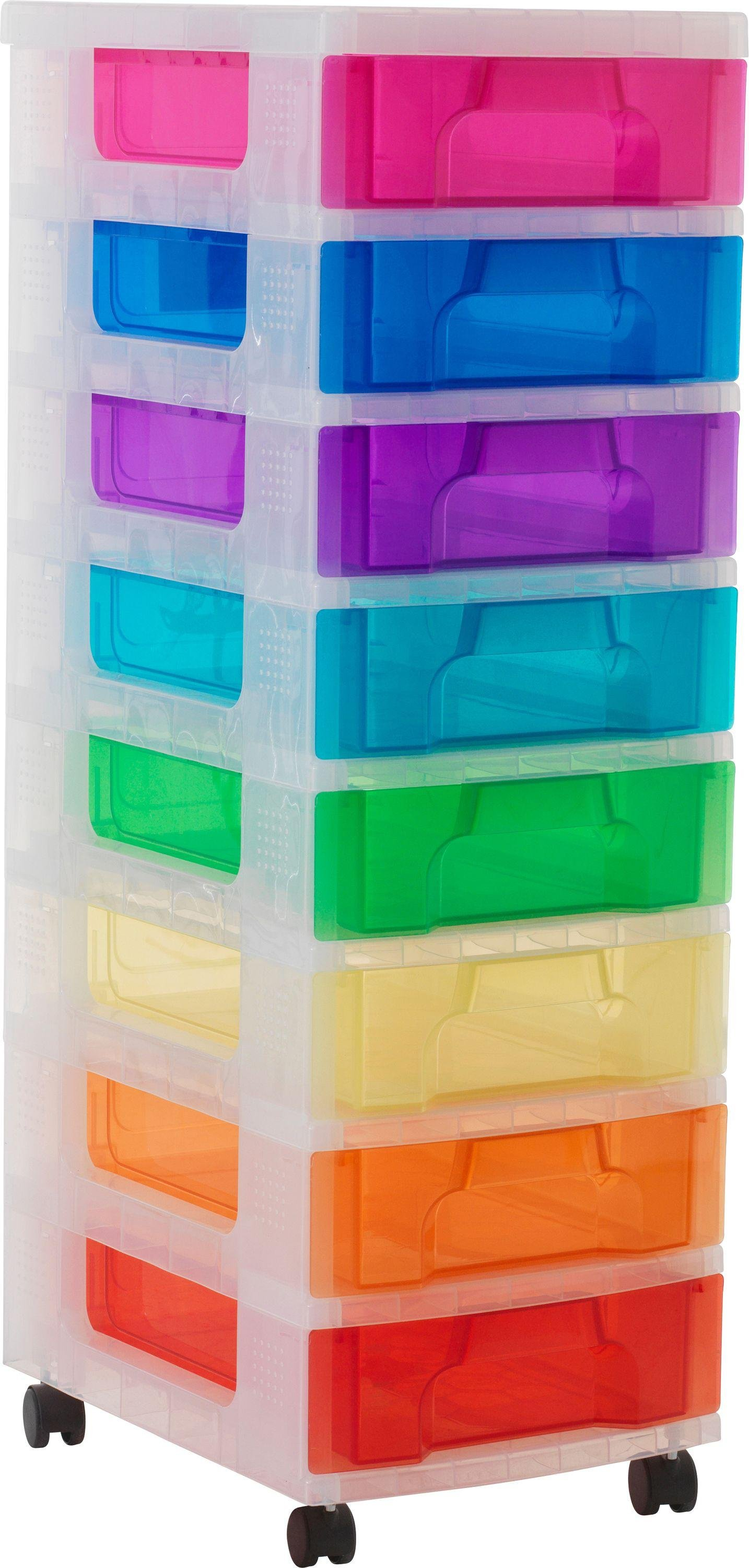 Really Useful 8 Drawer Multicoloured Tower Storage Unit