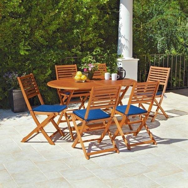 Argos Home Newbury 6 Seater Wooden Patio Set