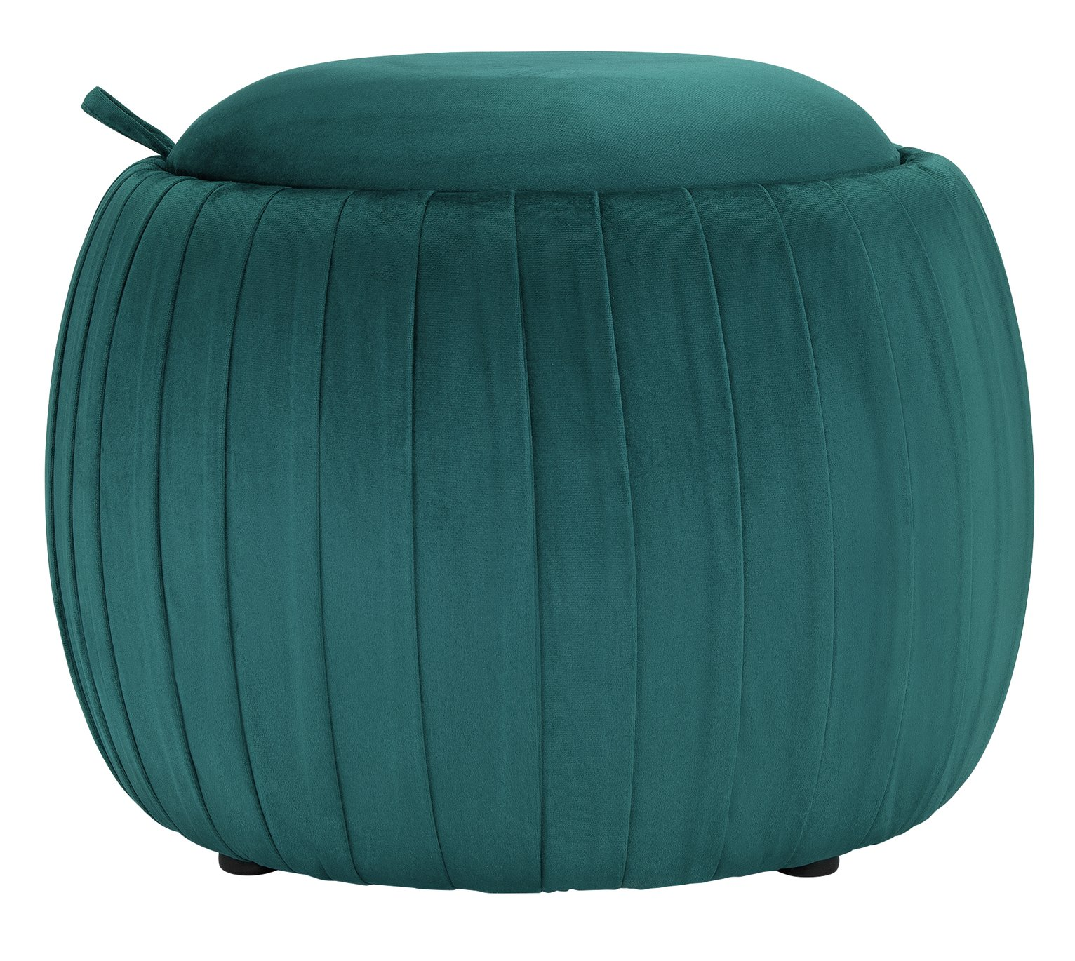 Argos Home Ellie Velvet Storage Footstool - Teal