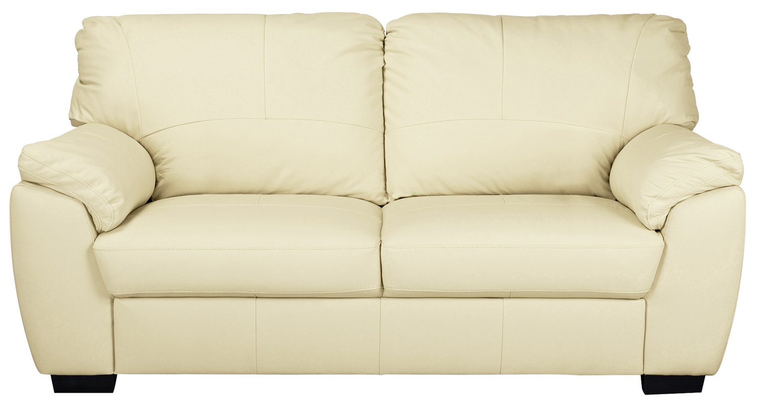 Argos Home Milano 3 Seater Leather Sofa - Ivory