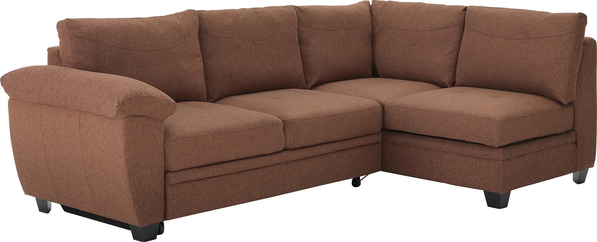Argos Home - Fernando Fabric Right Corner - Sofa Bed - Chocolate
