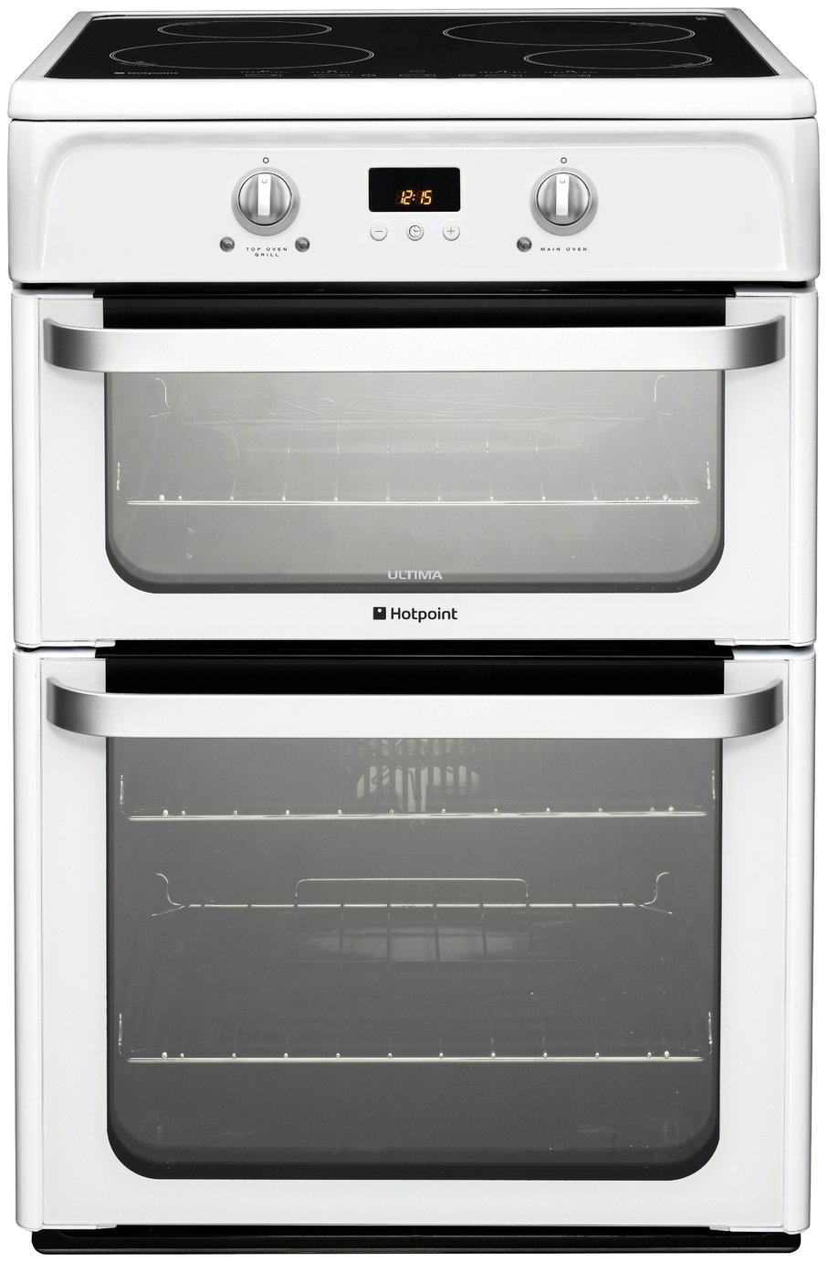 Hotpoint Ultima HUI612 P Double Freestanding Cooker - White