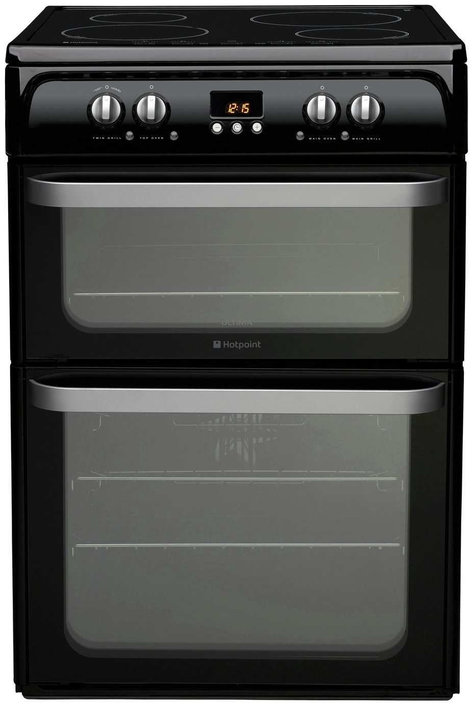 Hotpoint Ultima HUI614 K Freestanding Cooker - Black + Installation