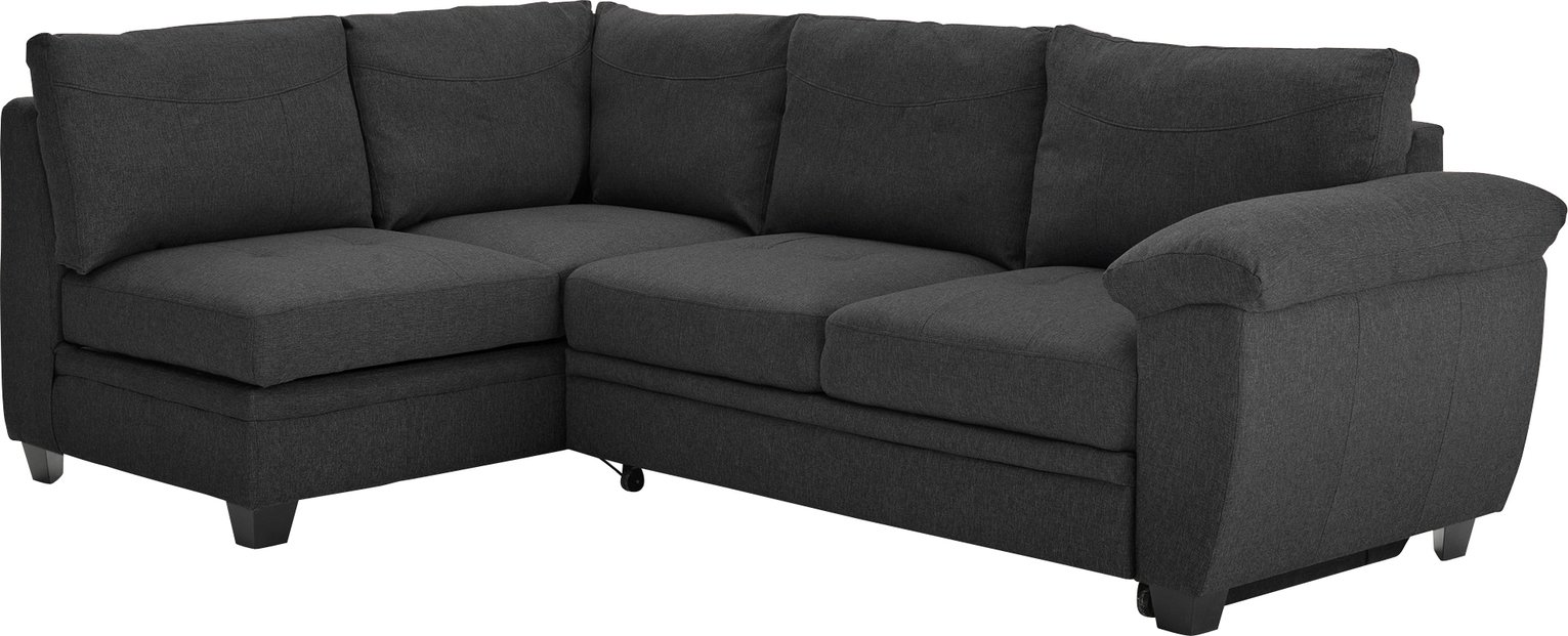Argos Home - Fernando Fabric Left Corner - Sofa Bed - Charcoal
