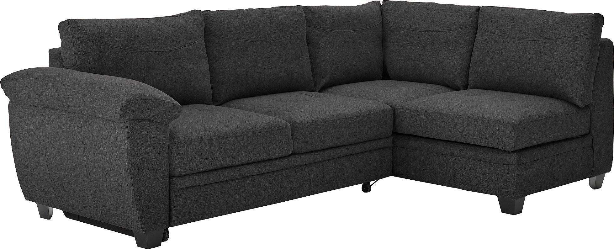 Argos Home - Fernando Fabric Right Corner - Sofa Bed - Charcoal