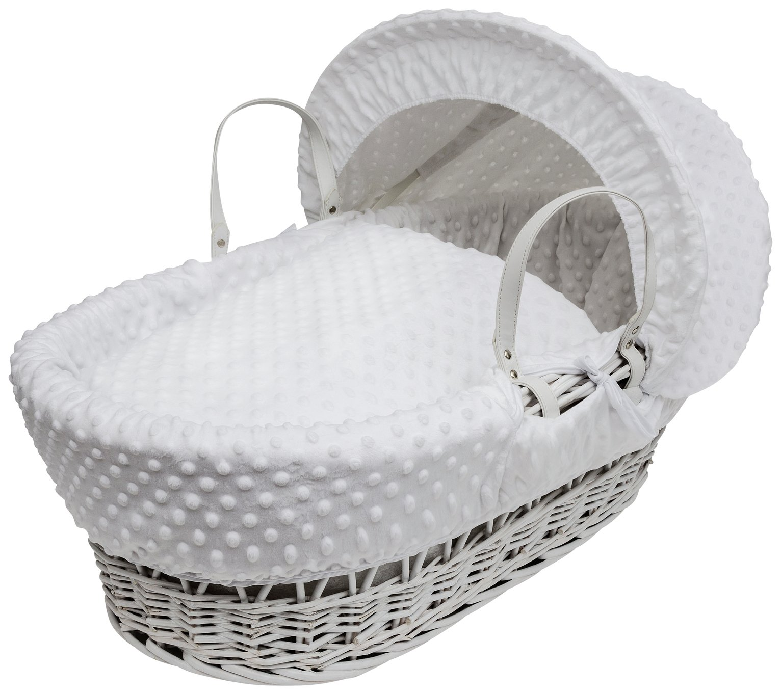 Kinder Valley White Dimple White Wicker Basket