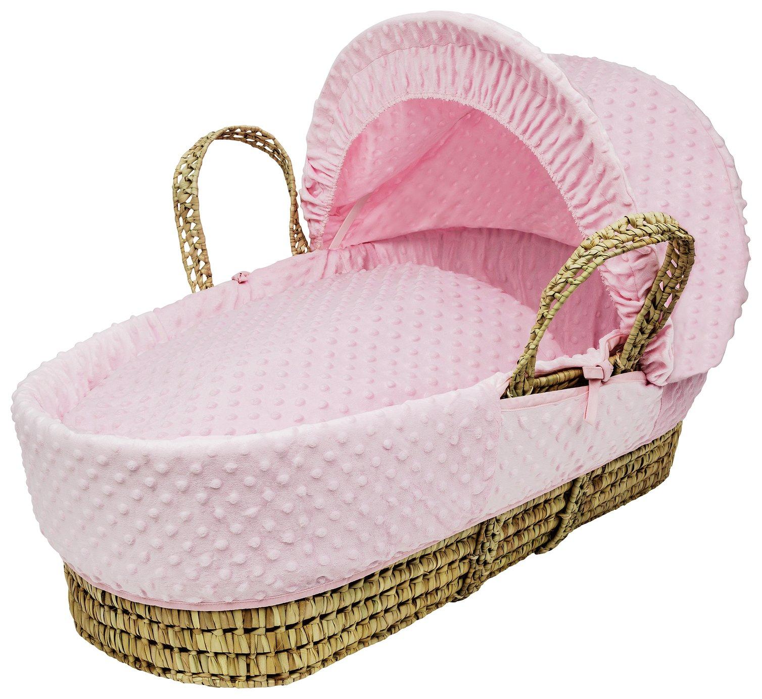 Kinder Valley Pink Dimple Moses Basket