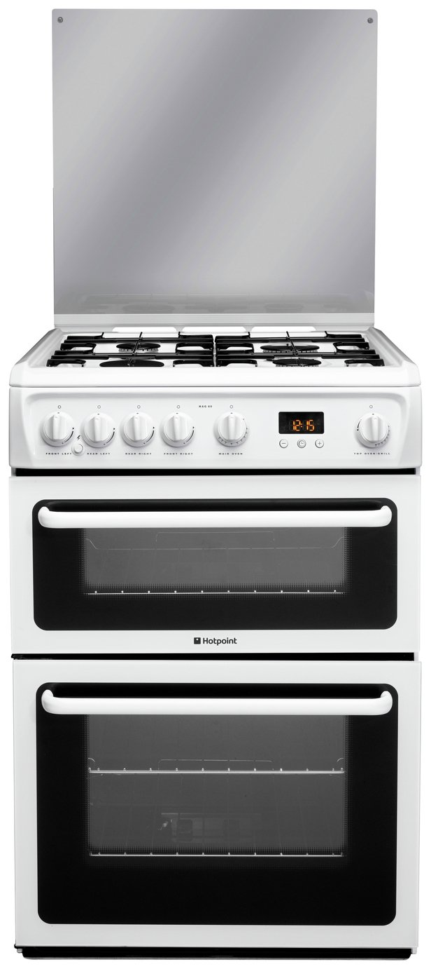 Hotpoint HAGL60P Double Gas Cooker - White