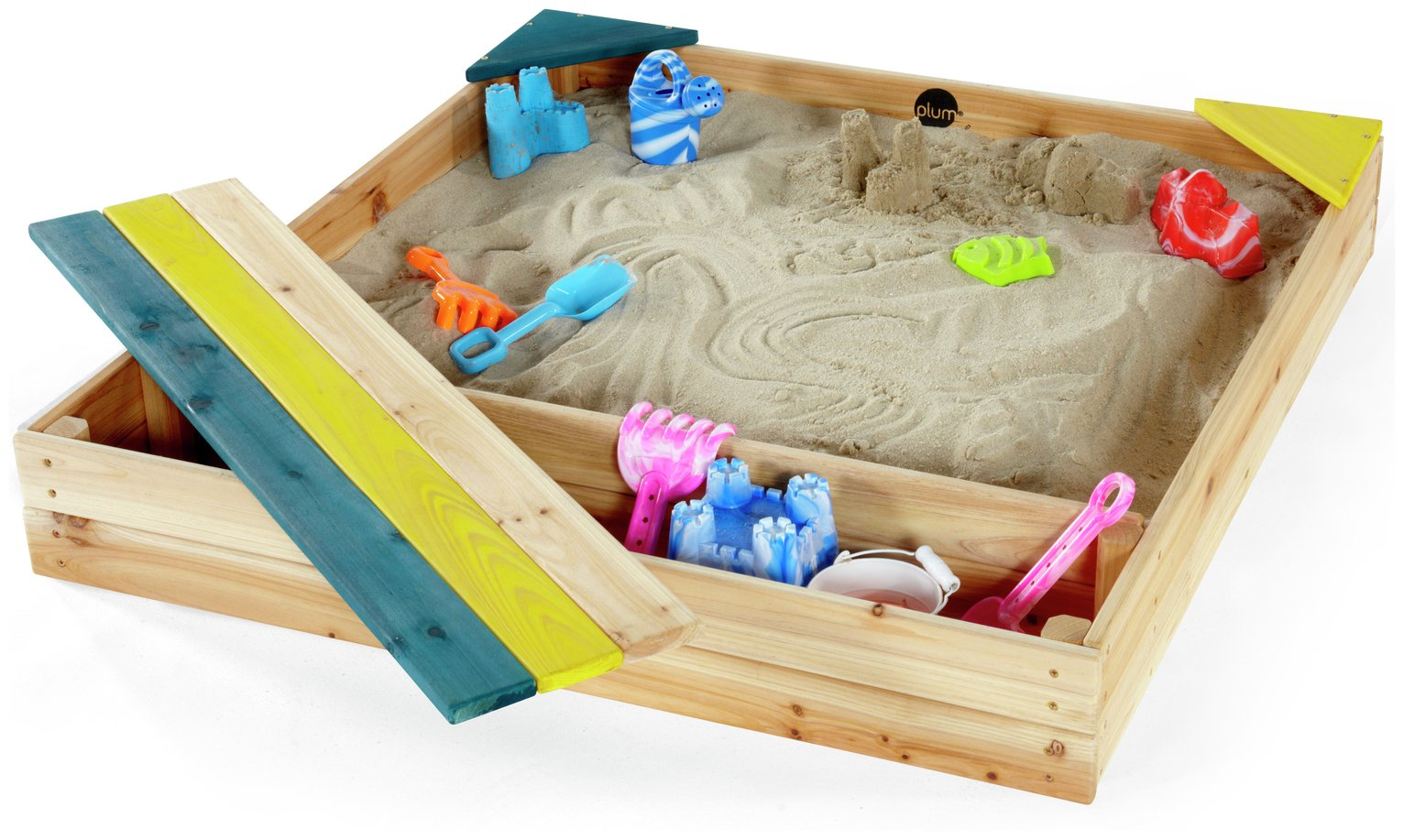 Plum Store-It Outdoor Play Wooden Sand Pit.