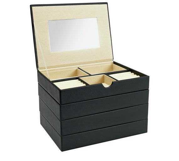 15 5cm Jewellery Box Black