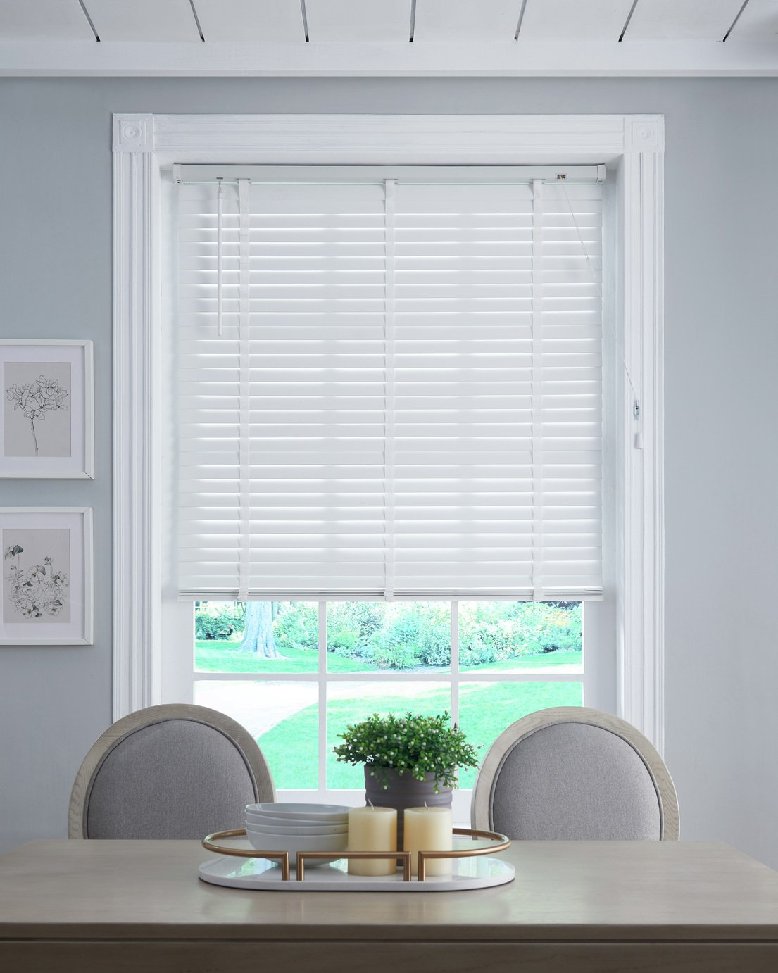 Little Black Book 50mm Wooden Venetian Blind - White