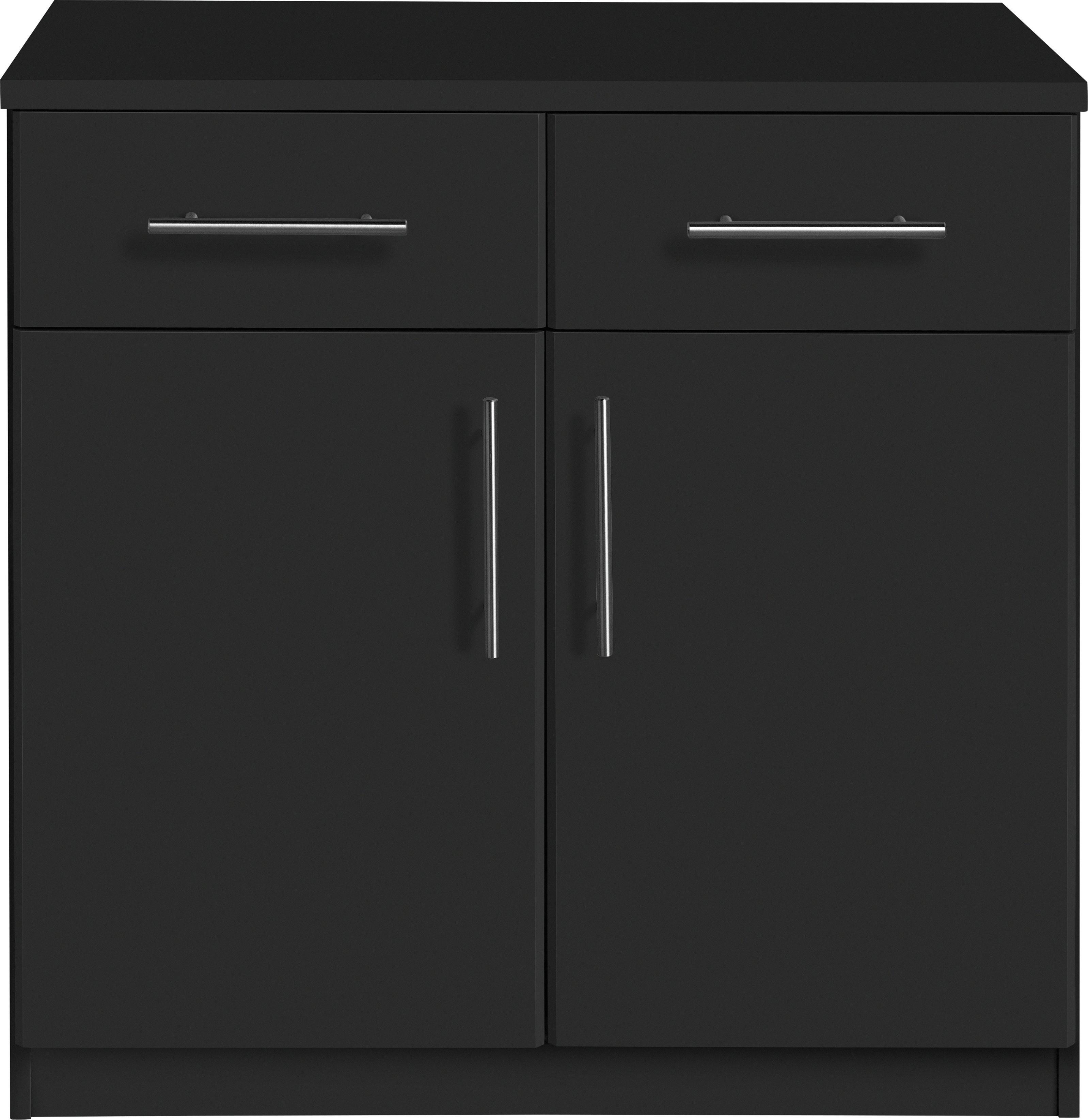 Argos Home Anderson 2 Door 2 Drawer Sideboard - Black