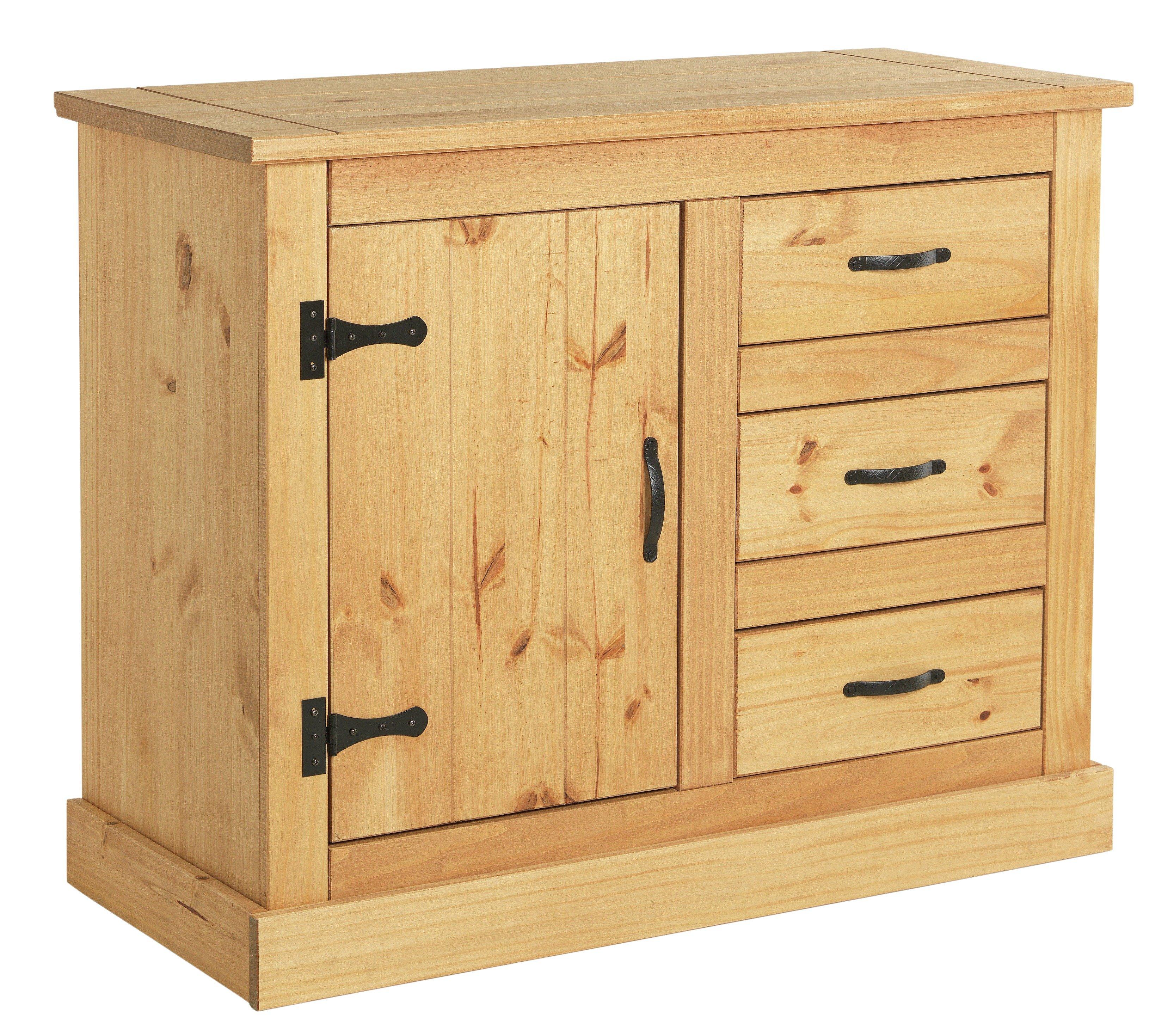Argos Home San Diego 1 Door 3 Drawer Solid Pine Sideboard