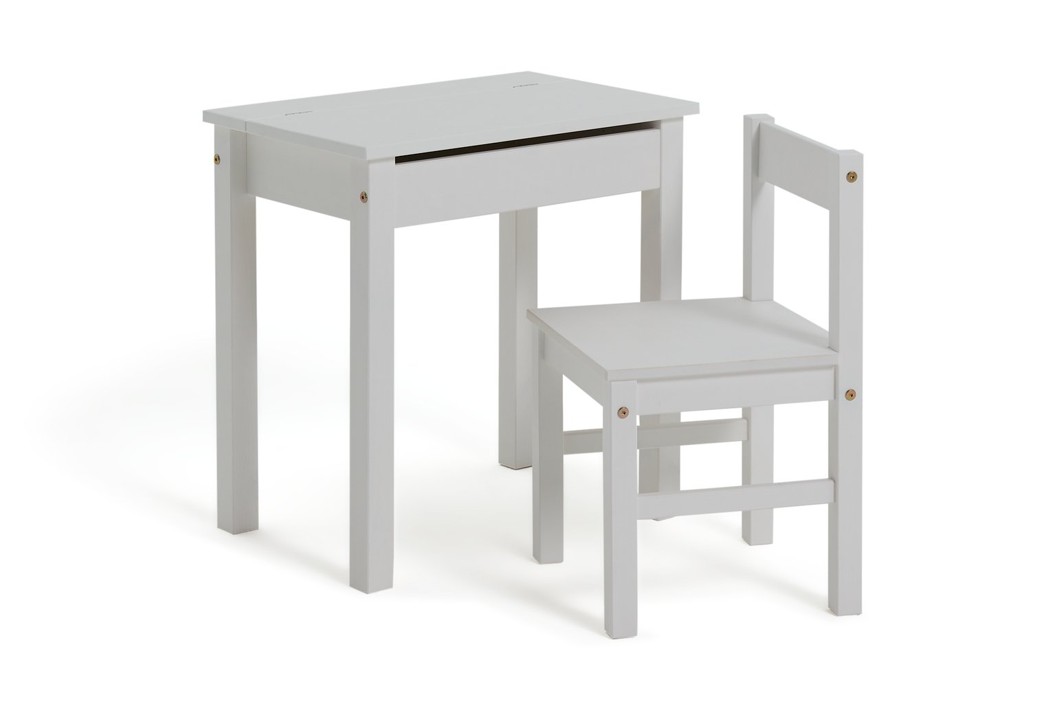 Argos Home Scandinavia White Desk & Chair