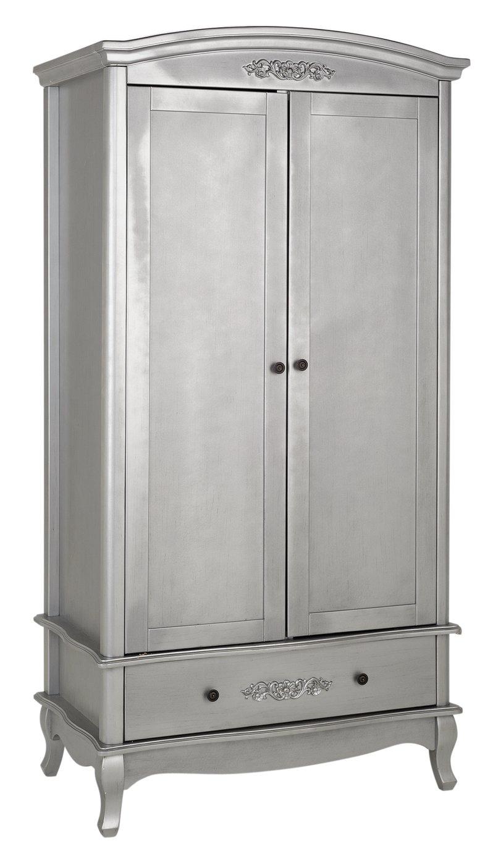 Argos Home Sophia 2 Door 1 Drawer Wardrobe - Silver