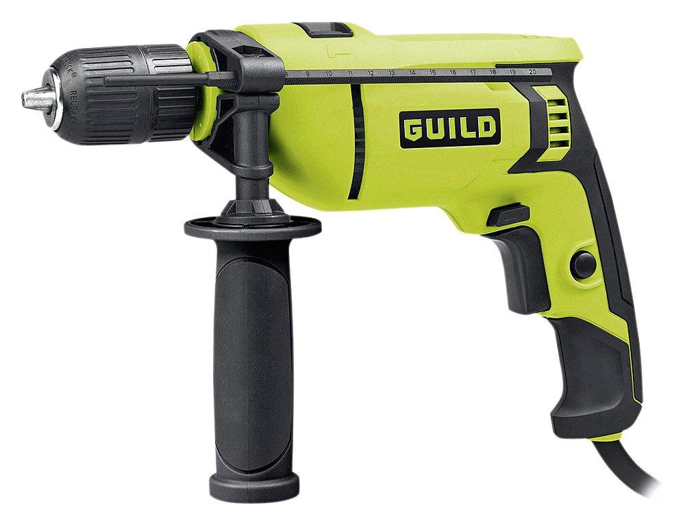 Guild - 13mm Keyless Corded Hammer Drill - 750W