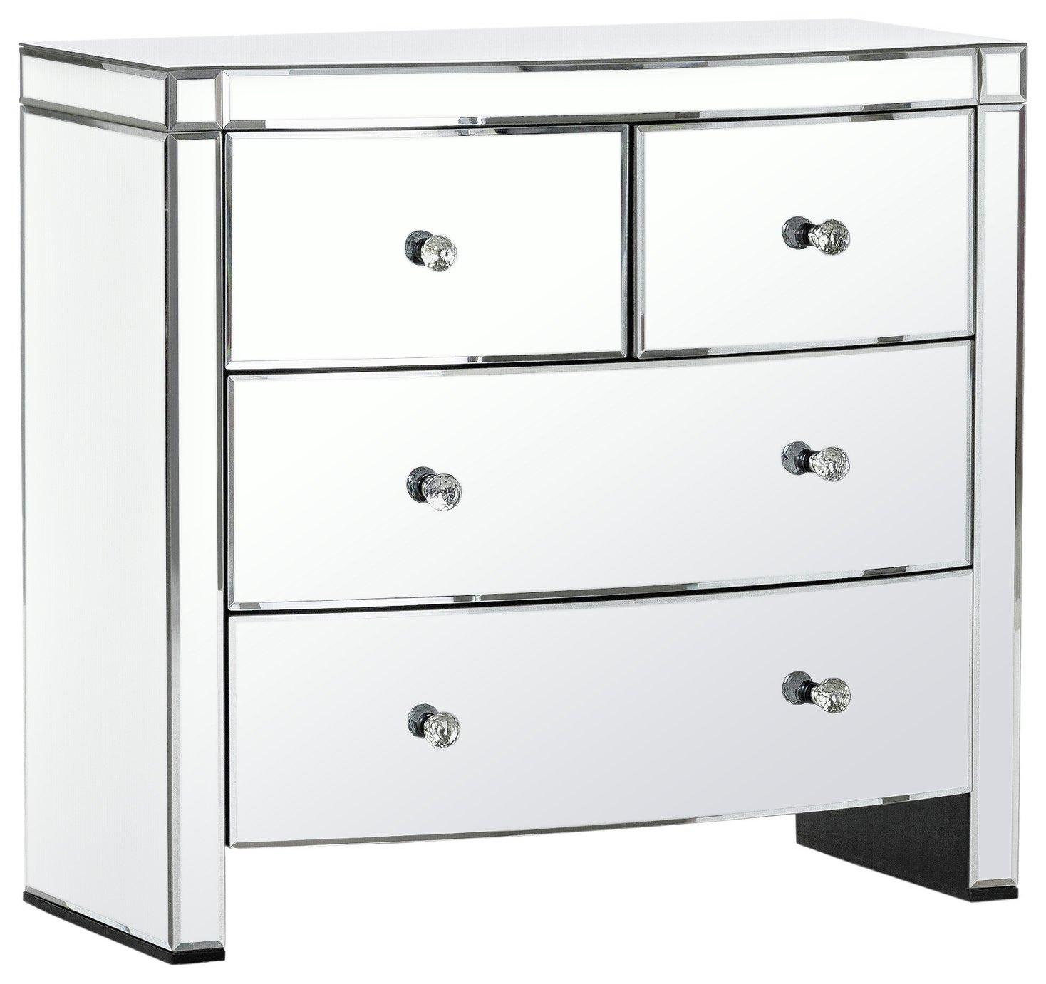 Argos Home Canzano 4 Drawer Mirrored Chest