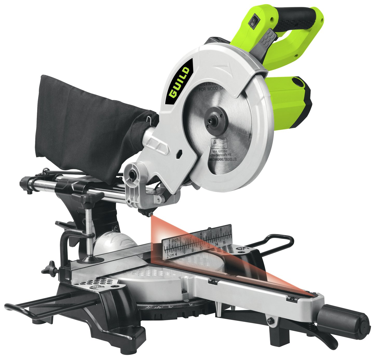 Guild - 210nm Sliding Mitre Saw with Laser - 1700W