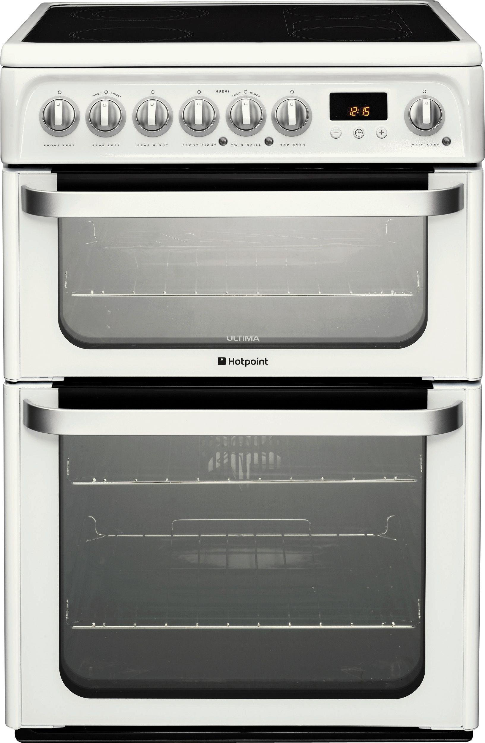 Hotpoint HUE62P Electric Cooker - White