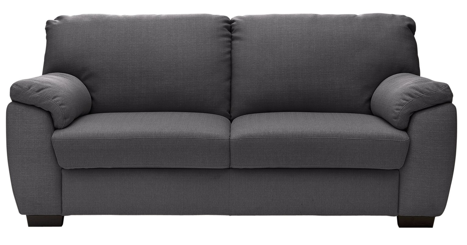 Enjoyable Argos Home Milano 3 Seater Fabric Sofa Charcoal 4878537 Pdpeps Interior Chair Design Pdpepsorg
