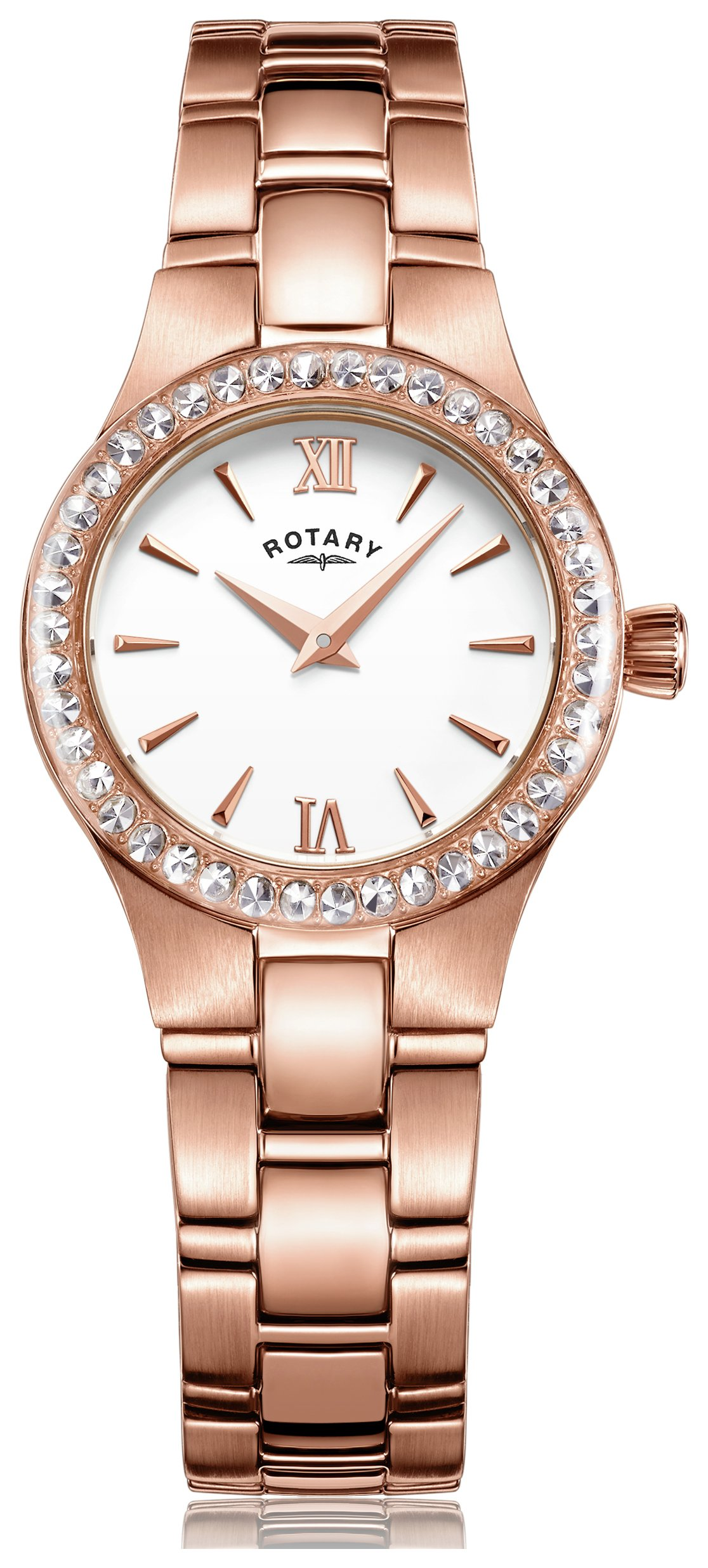 Rotary - Ladies Rose Gold Plated Bracelet - Watch