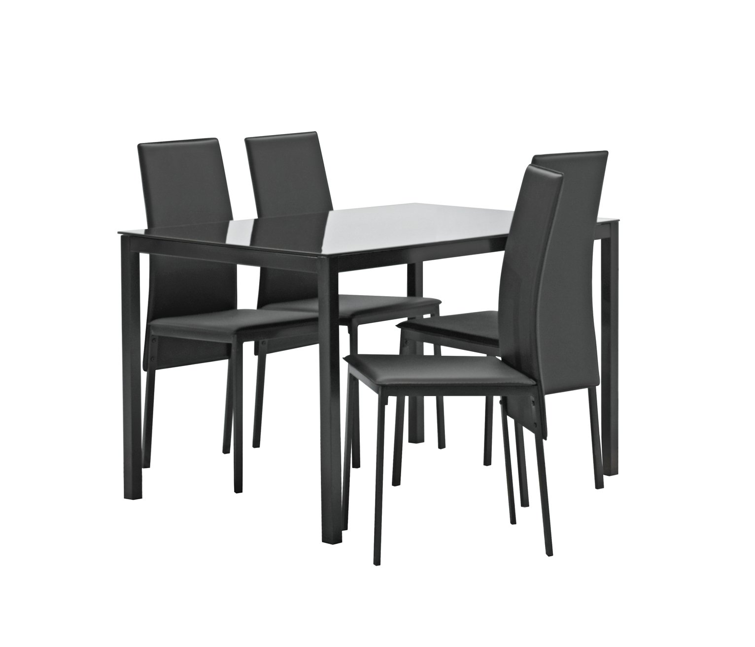 Argos Home Lido Glass Dining Table & 4 Chairs