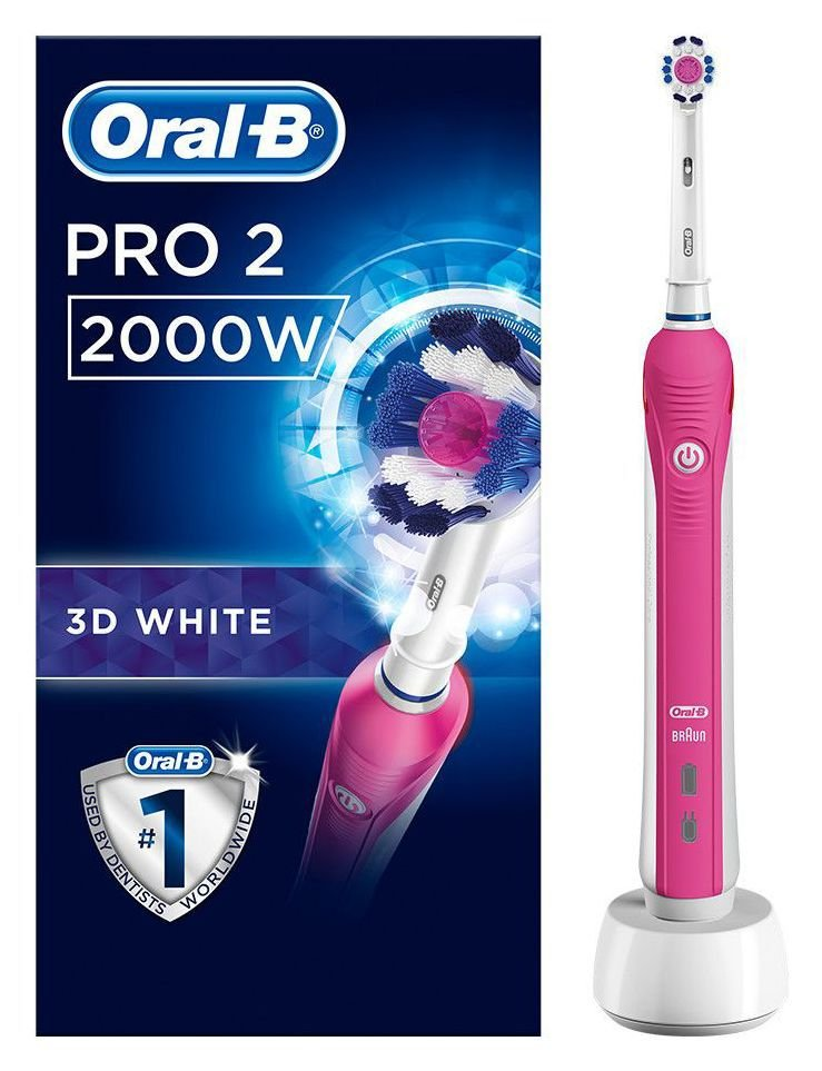 Oral-B - Pro 2000 - Electric Toothbrush Powered by Braun ? Pink