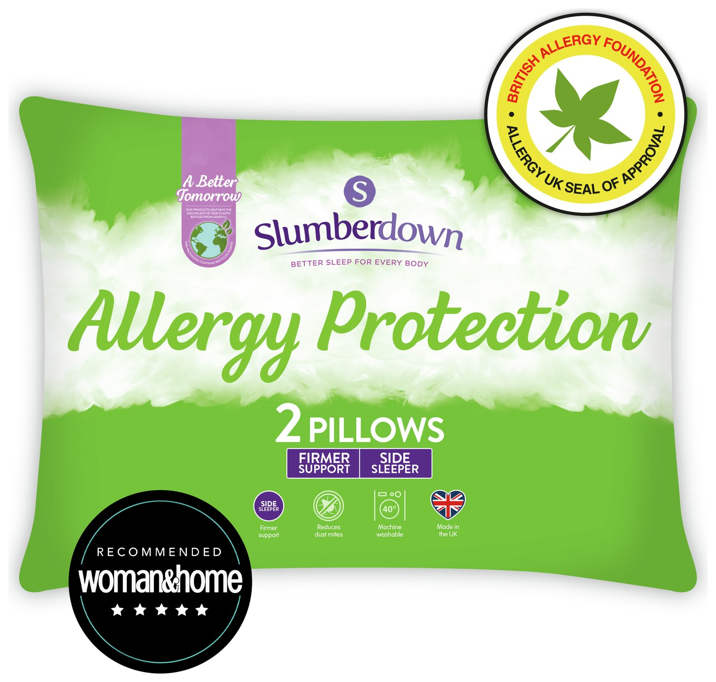 Slumberdown - Fresh and Healthy Pair of Pillows