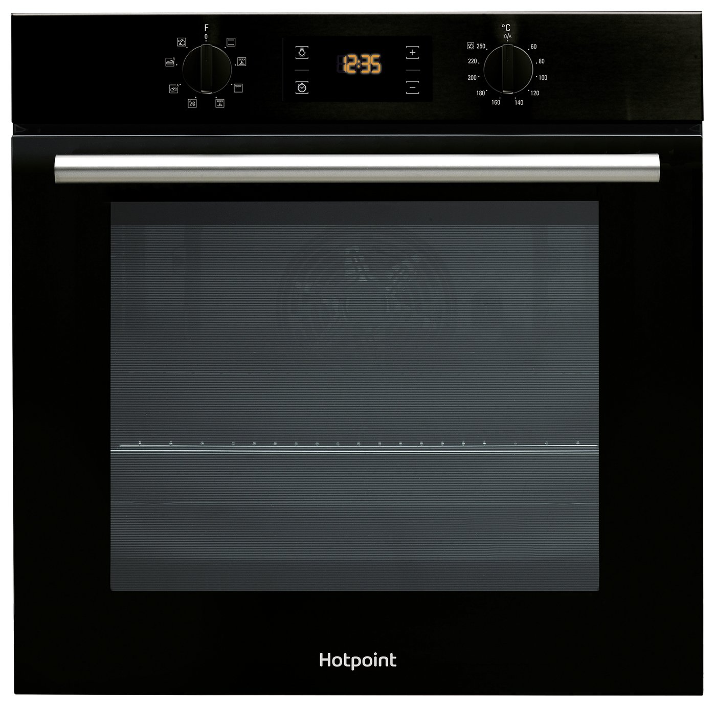 Hotpoint SA2540HBL Built In Single Oven - Black