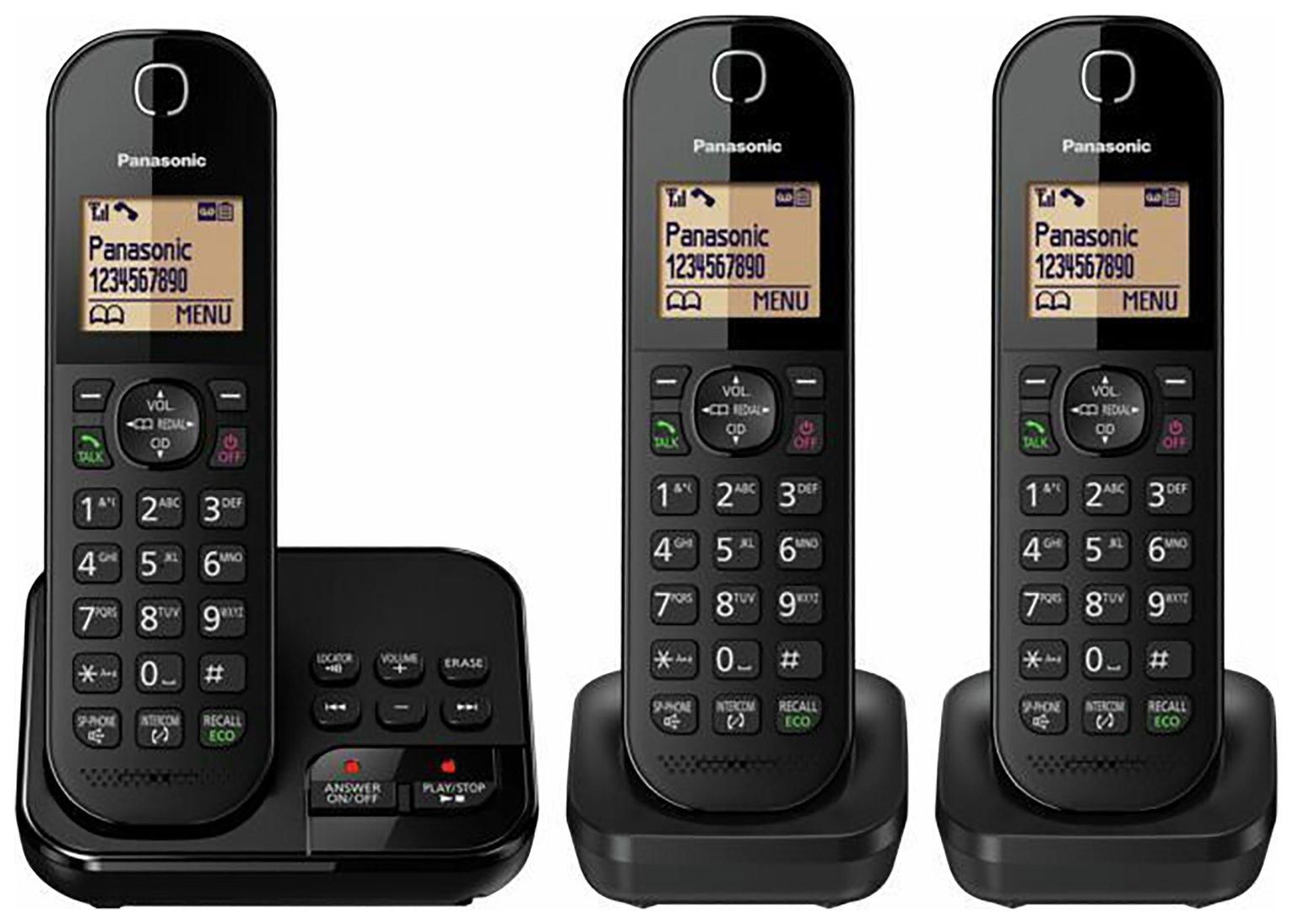Panasonic KX-TGC423EB Cordless Telephone & Answer Machine - Triple