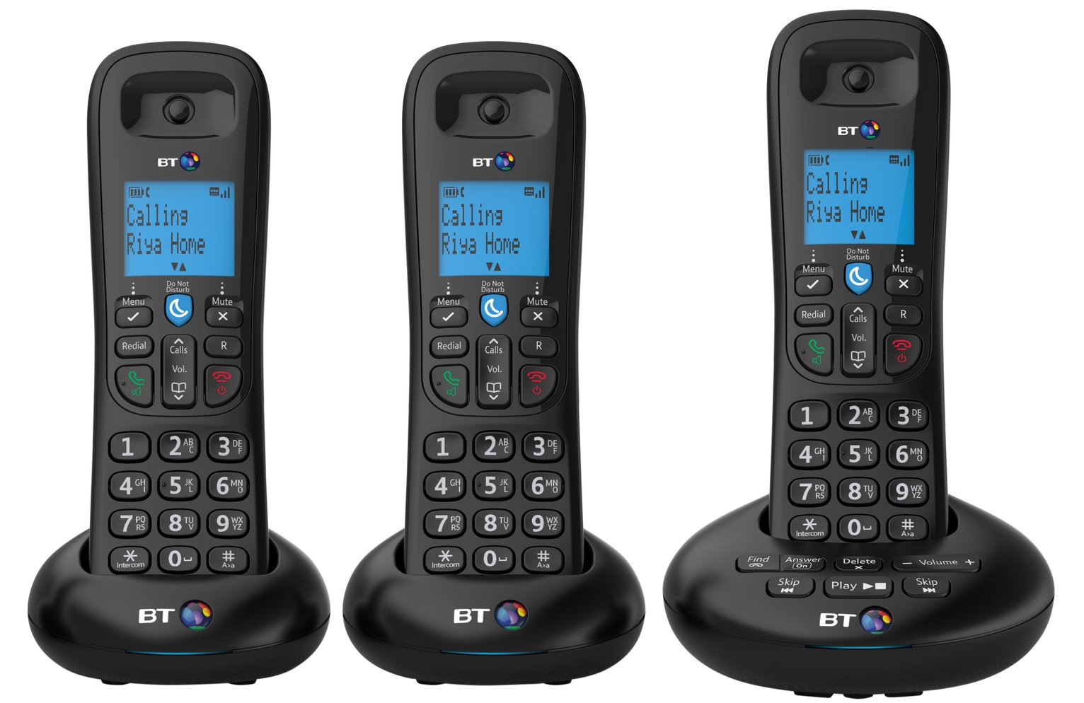BT 3570 Cordless Telephone with Answer Machine - Triple