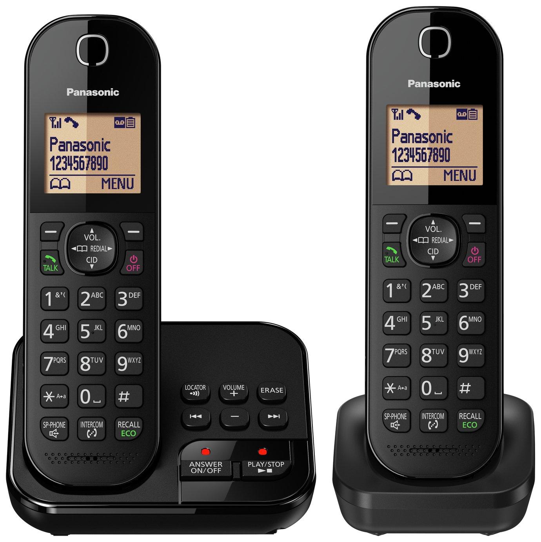 Panasonic - Cordless Telephone & Answer Machine - Twin