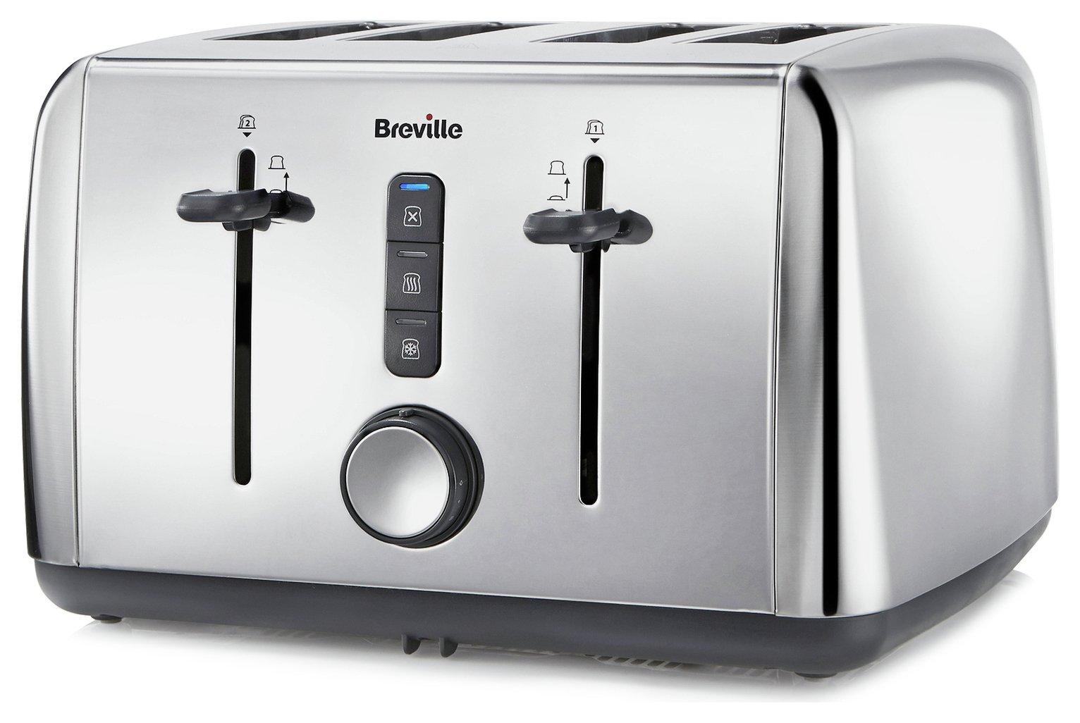Breville - 4 Slice Toaster - Stainless Steel
