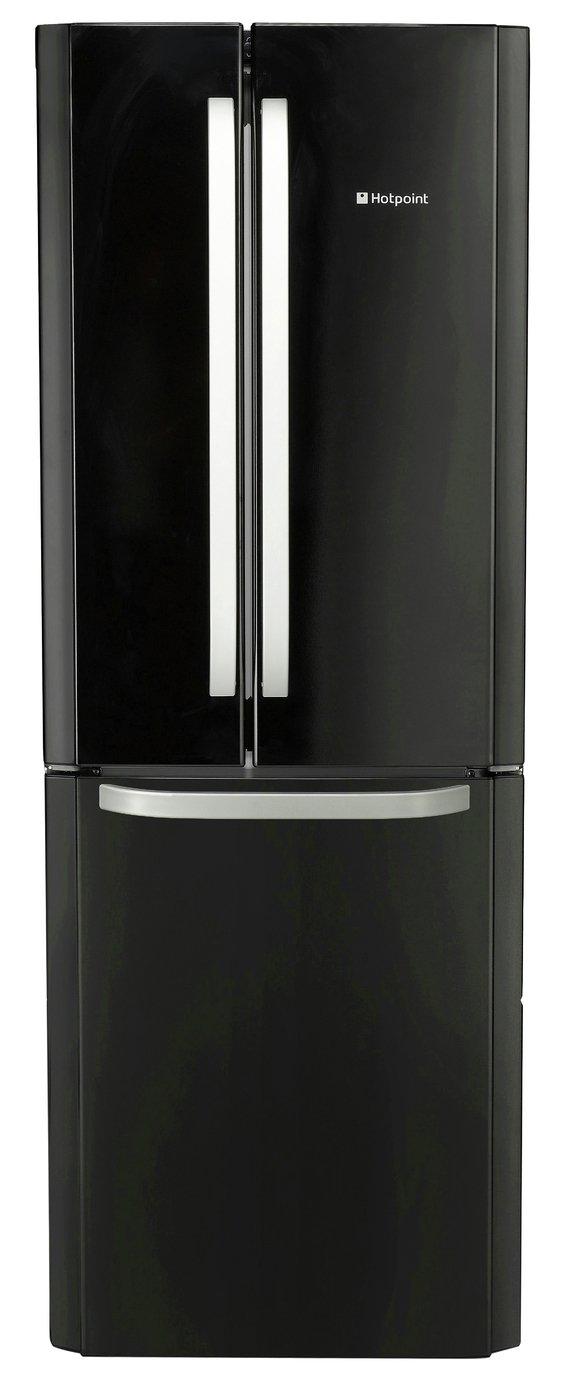 Hotpoint - FFU3DK American - Fridge Freezer - Black