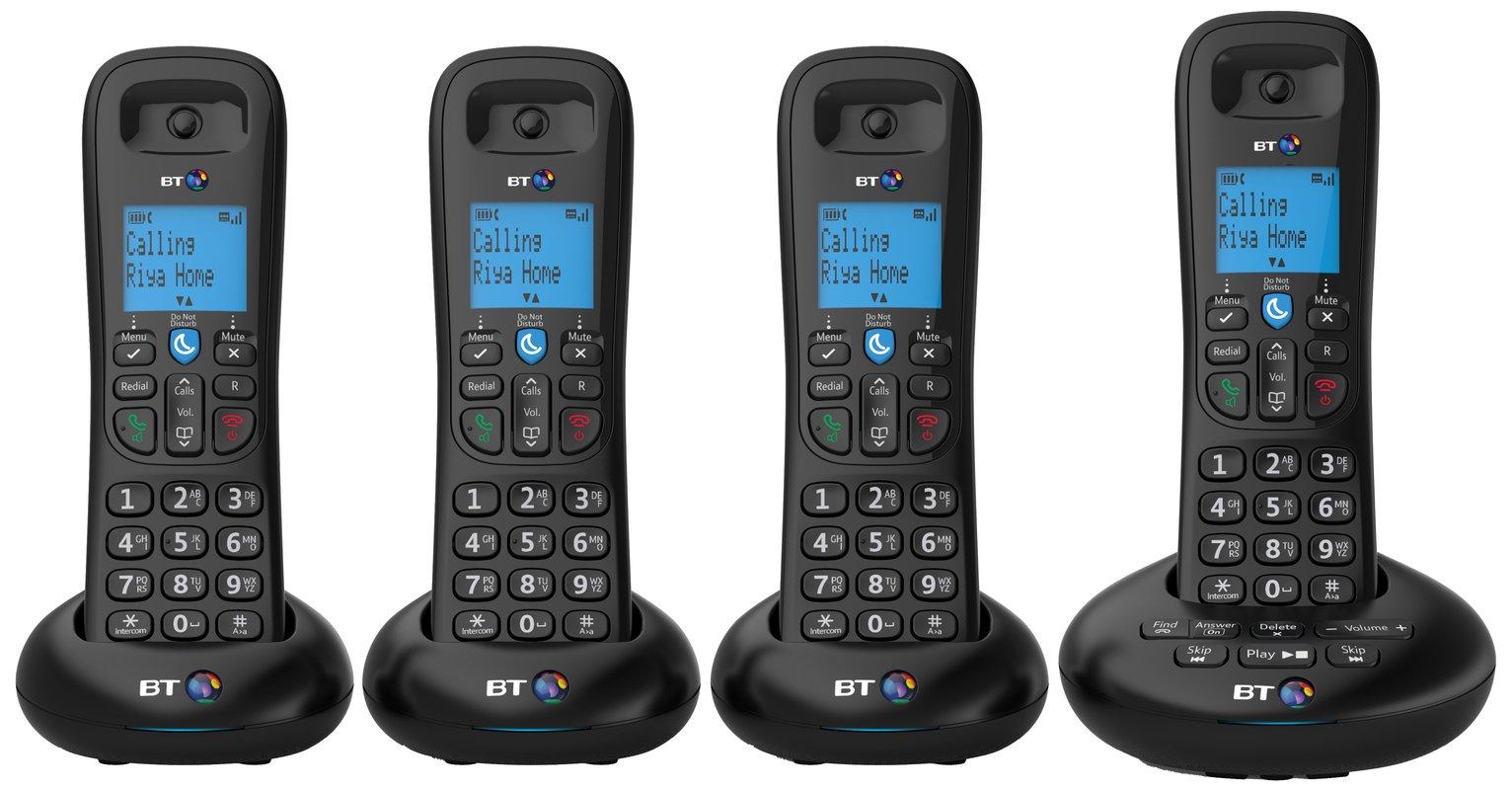 BT - 3570 - Cordless Telephone & Answer Machine - Quad