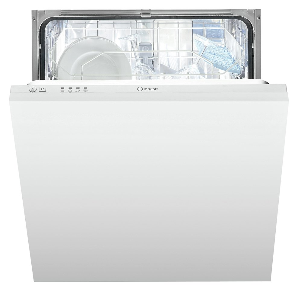 Indesit DIF04BUK Full Size Integrated Dishwasher - White
