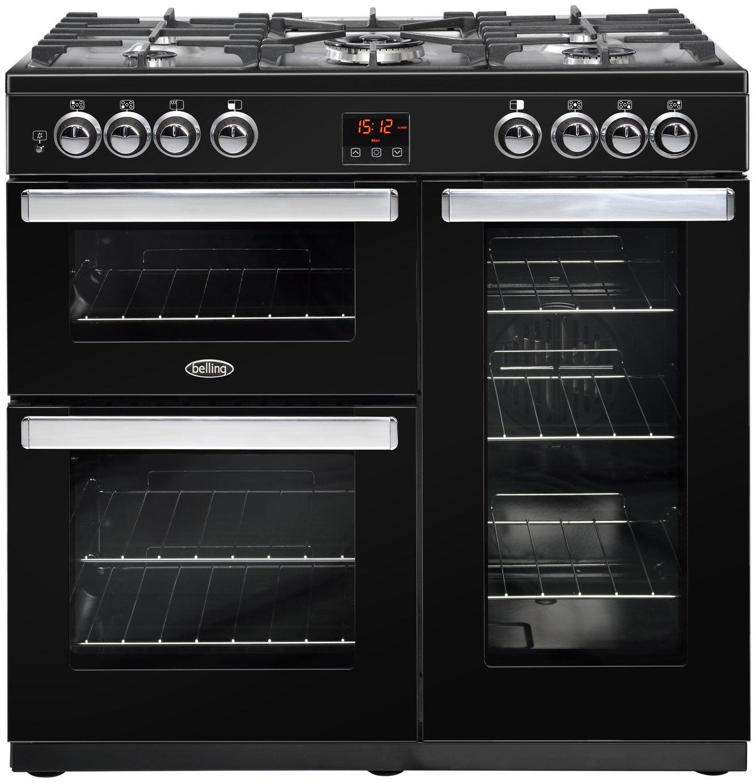 Belling Cookcentre 90G Gas Range Cooker - Black