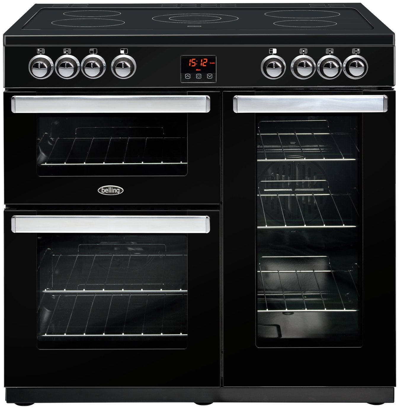 Belling - Cookcentre 90E - Electric Range Cooker - Black
