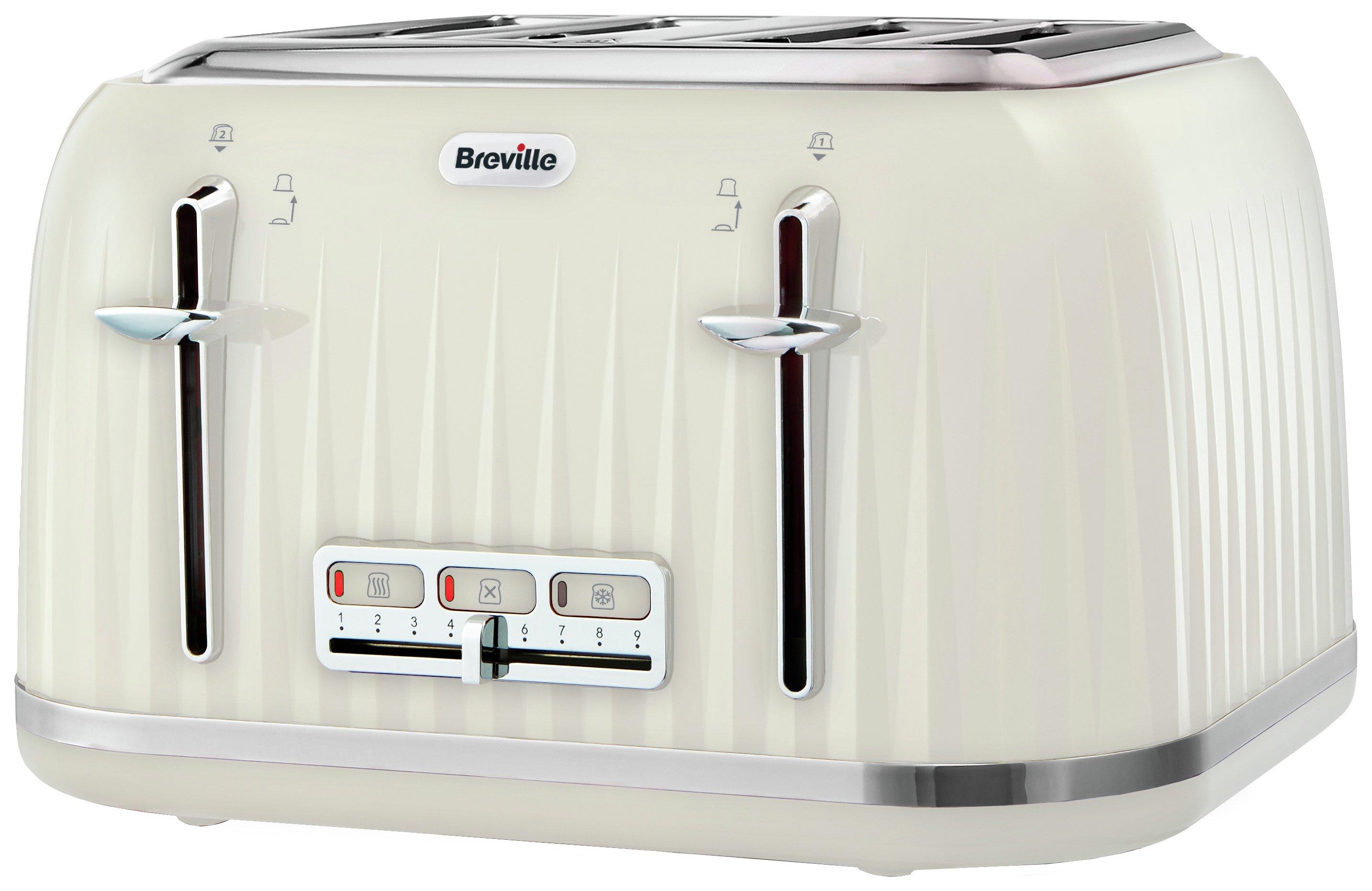 Breville - Impressions 4 Slice Toaster - Cream
