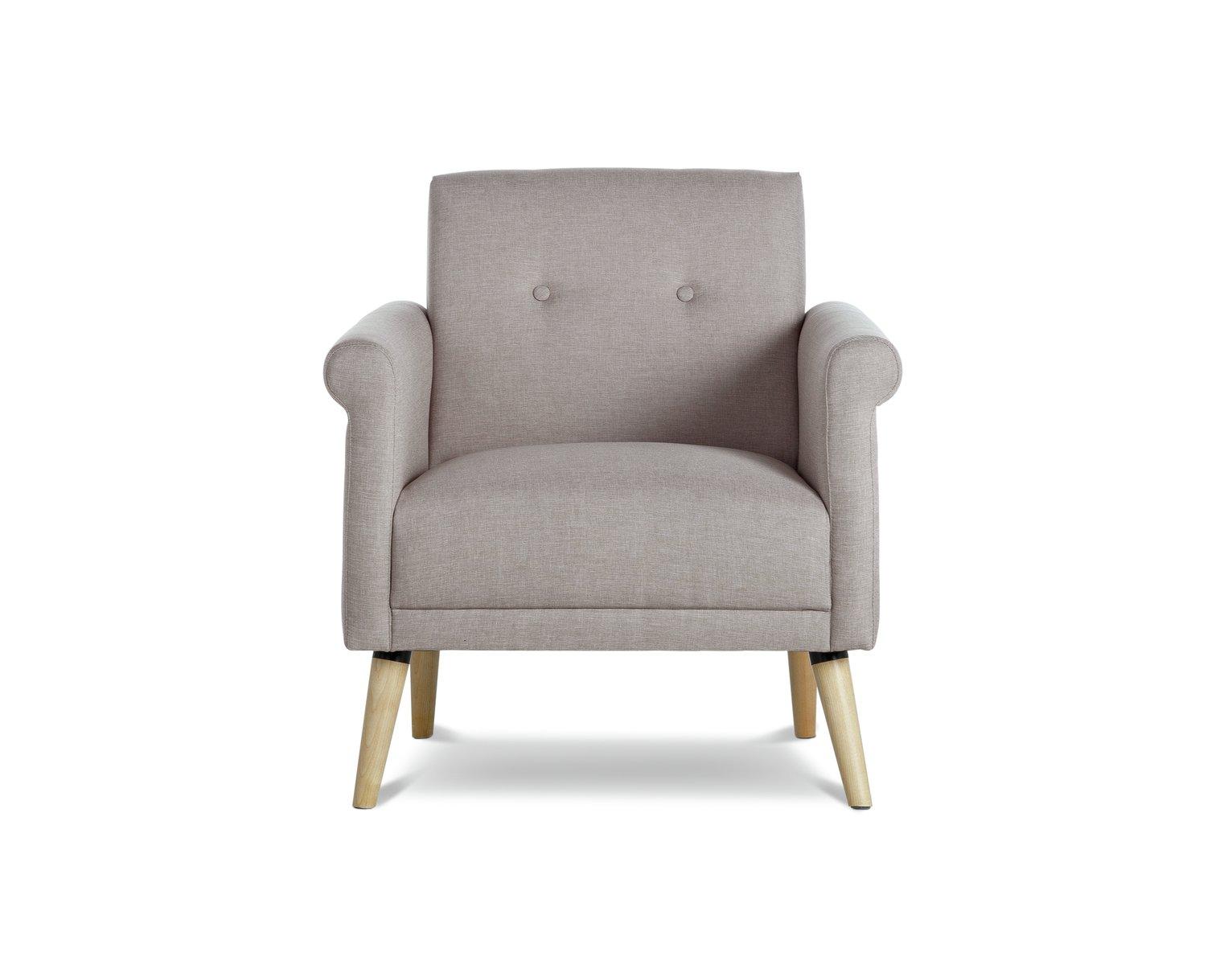 Argos Home Evie Fabric Armchair in a Box - Natural