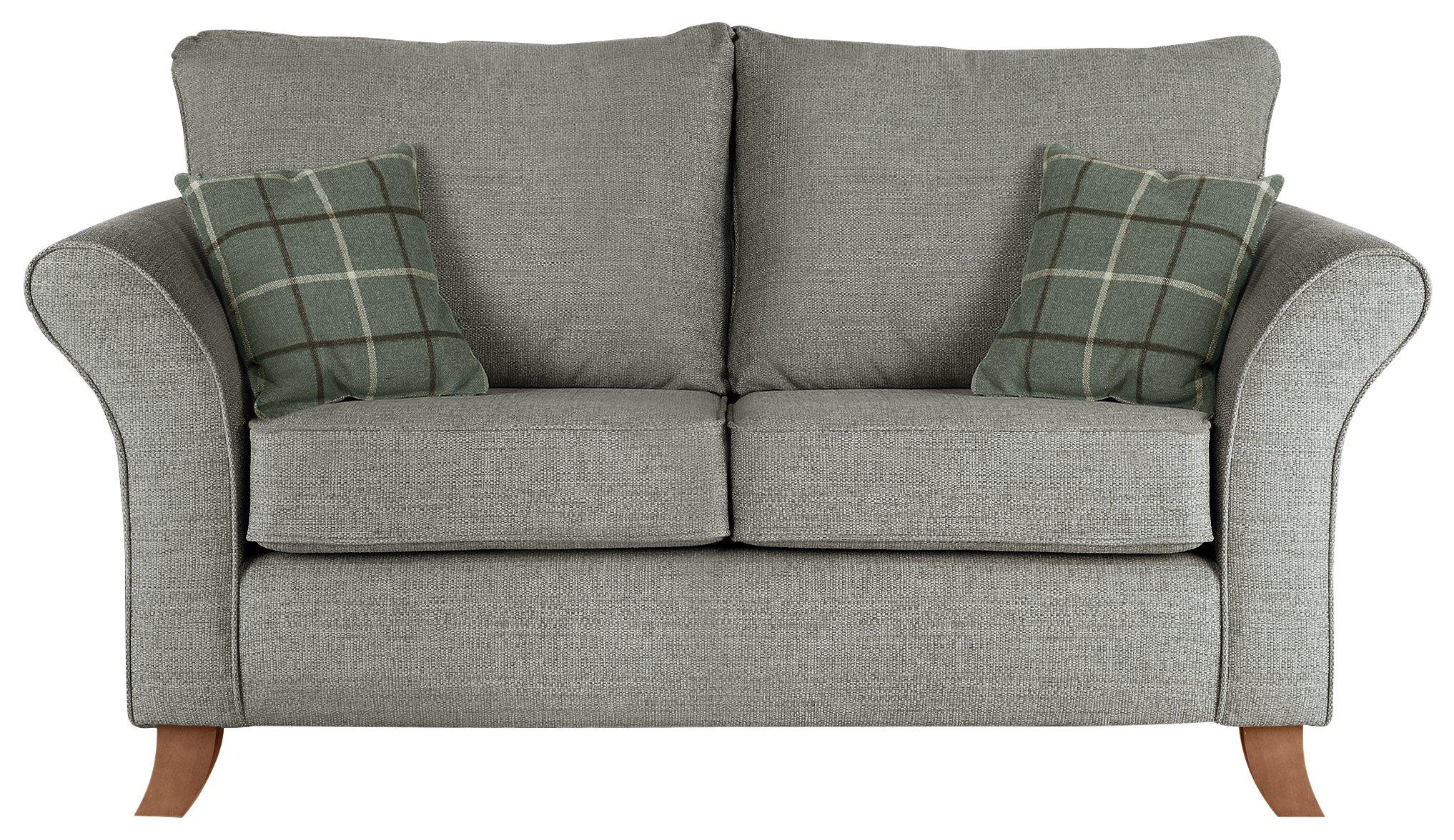 Fabulous Argos Home Kayla 2 Seater Fabric Sofa Light Grey 6148715 Bralicious Painted Fabric Chair Ideas Braliciousco