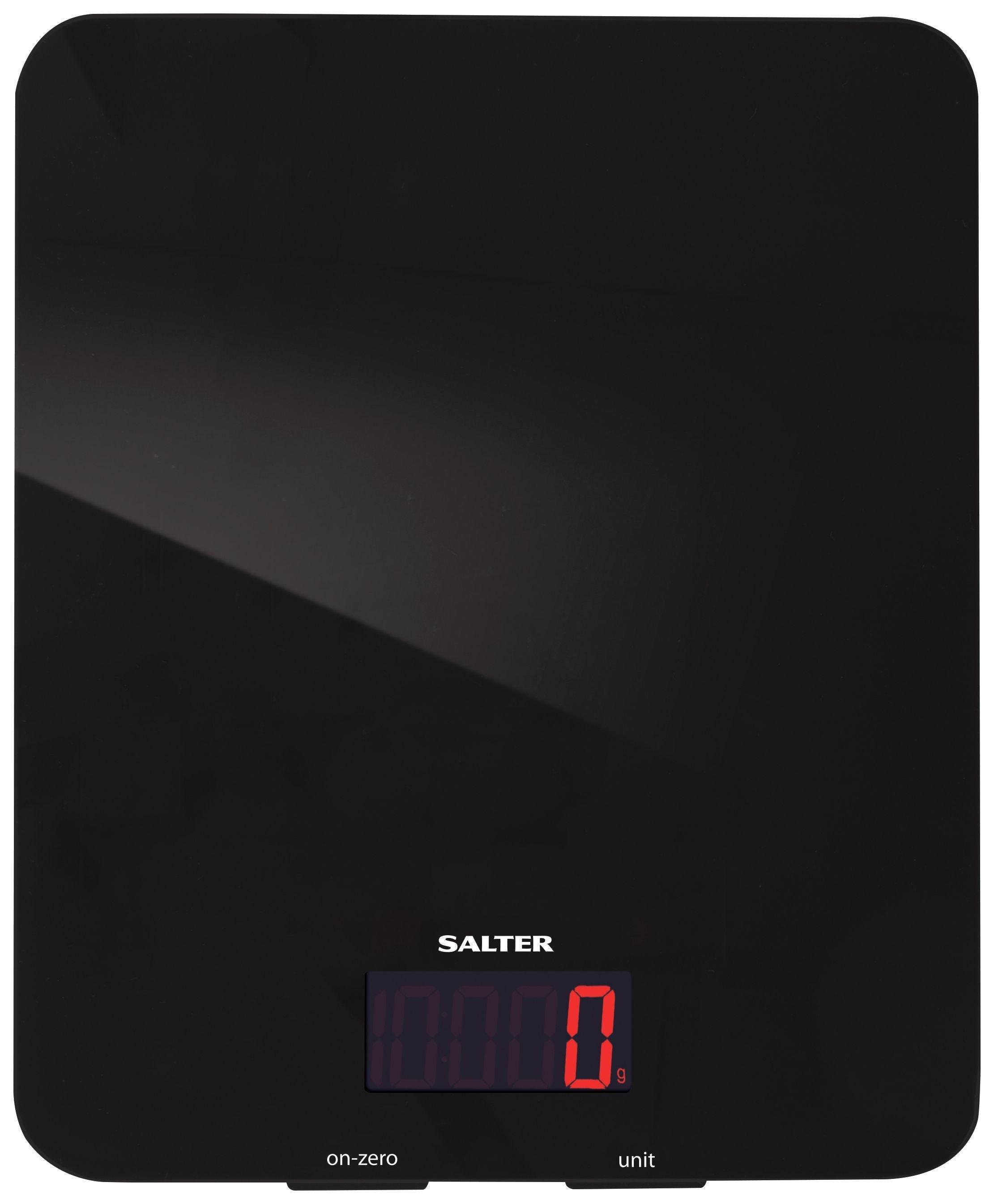 Salter Glass Digital Kitchen Scale - Black